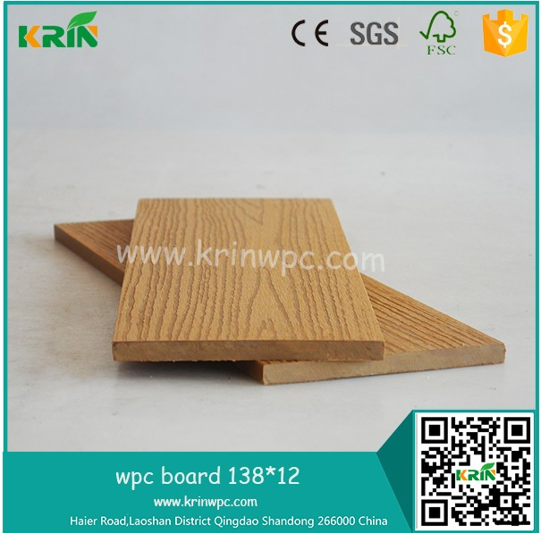 Hot selling high quality wpc outside decks/wpc co-extrusion decking/outdoor deck floor covering with CE certificate