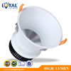 High lumen IP65 IP44 aluminum round bridgelux cob 5w 10w 15w 20w 25w 30w 40w 50w 60w aluminum down light housing fixture
