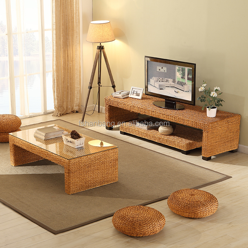 Professional Customized Hot Rattan Tv Stand Living Room Furniture