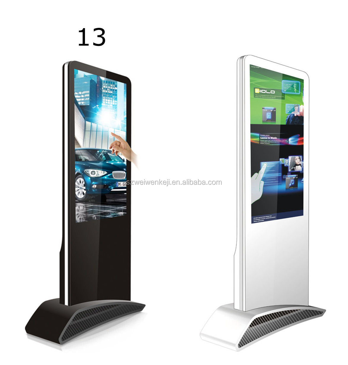 Lcd Screen Advertisement All In One Pc Network Touch Screen ...
