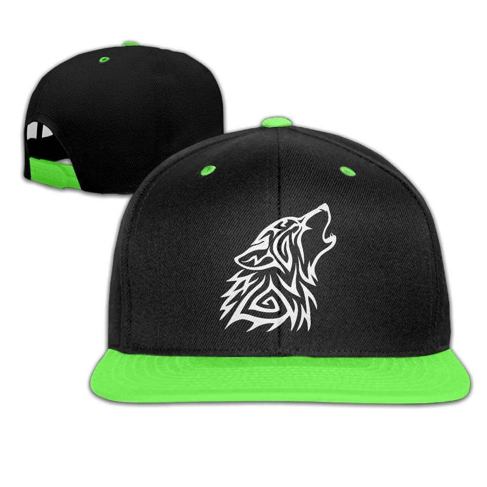 19d9f1eeed2 Get Quotations · Kids Girls Tribal Wolf Howl Baseball Cap Hats Trucker  Cotton Caps