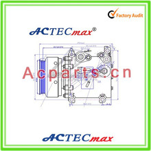 Auto/cars Air-Conditioning A/C AC Auto Air Scroll Compressor from China