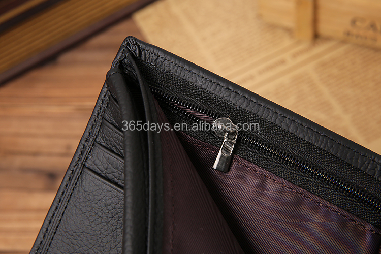 Manufacturer leather wallet with coin pocket