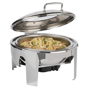 Hot Sell stainless steel roll top chafing dish with window