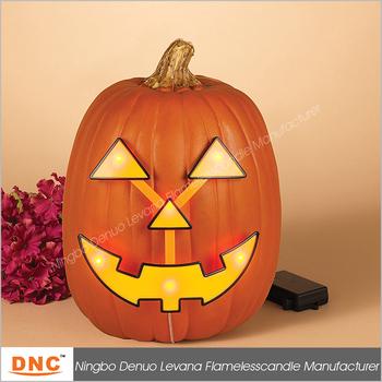 7 4 Led Light Up Pumpkin Jack O Lantern Face Lights Decoration
