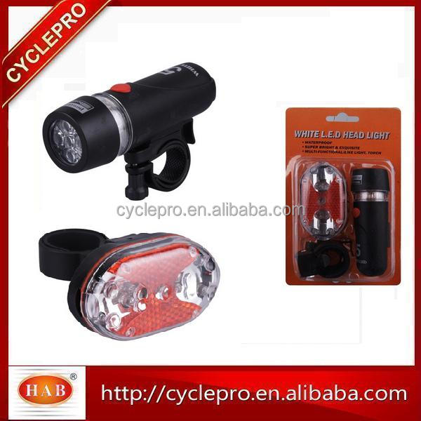 New Black Bicycle 5 LED Front Bike Light Head Light Headlight Torch Lamp Power Beam
