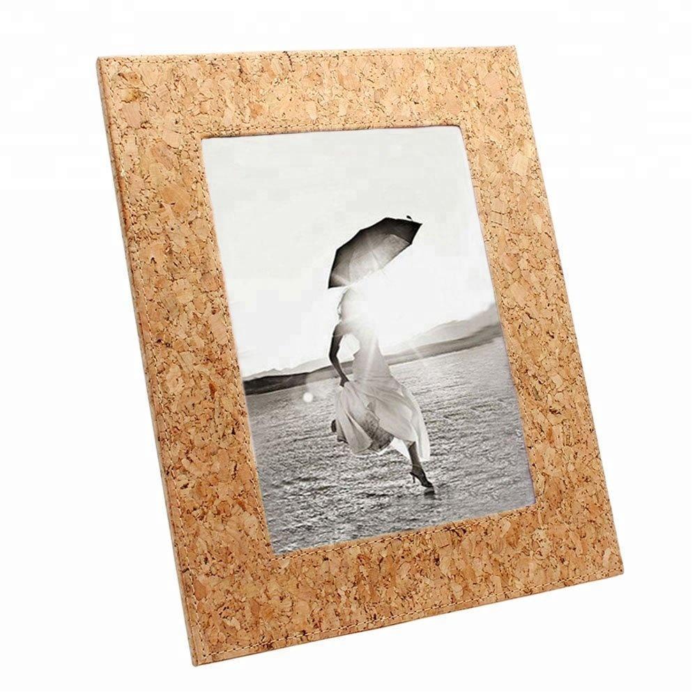 ECO-Friendly Natural Cork Designed Picture Frame Cork Photo Frame