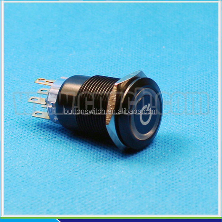 1945 19mm Flat Round Momentary Or Latching Ring Led And Power Symbol ...
