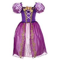 Princess Off Shoulder Layered Costume Dress for Little Girl Skirts Cartoon Princess Dresses