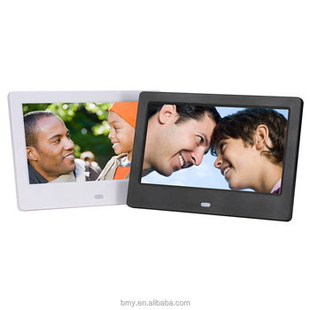 7 Inch Digital Picture Frame Support English Blue Movie Video Free Download