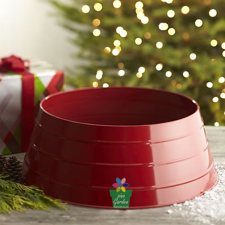 Christmas Decoration Tree Collar Galvanized Base Cover