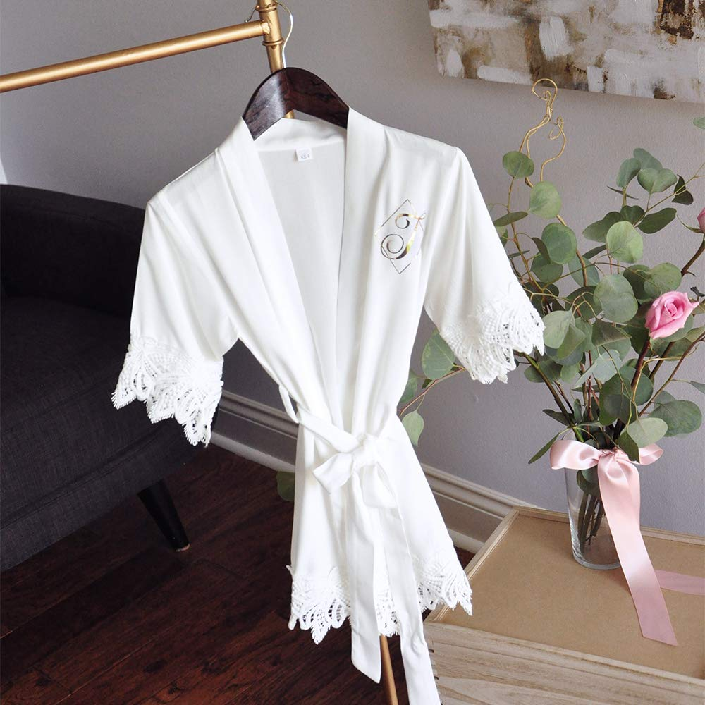 Get Quotations · White Flower Girl Robe (Qty. 1). Personalized Robe for  Girls. Robe 5d1966209