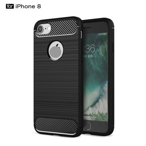 Carbon fiber TPU Cover for iPhone phone case For iPhone 8 Plus