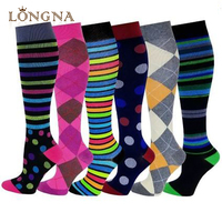 New unisex sports fuzzy knee high compression socks running for men&women ,men socks fluff inside,sports waterproof socks