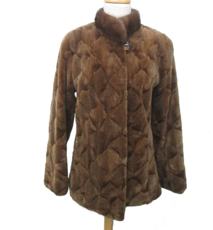 Women's Sz 6 Brown Sheared Mink Fur Coat Jacket
