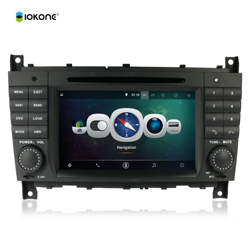 Android 4.4 quad-cores HD car gps navigation FM AM Bluetooth usb sd ipod for mercedes-BENZ c-class W203 CLK W209