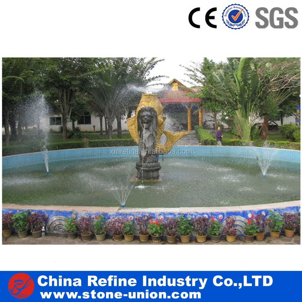 bronze lion and fish fountain cheap price