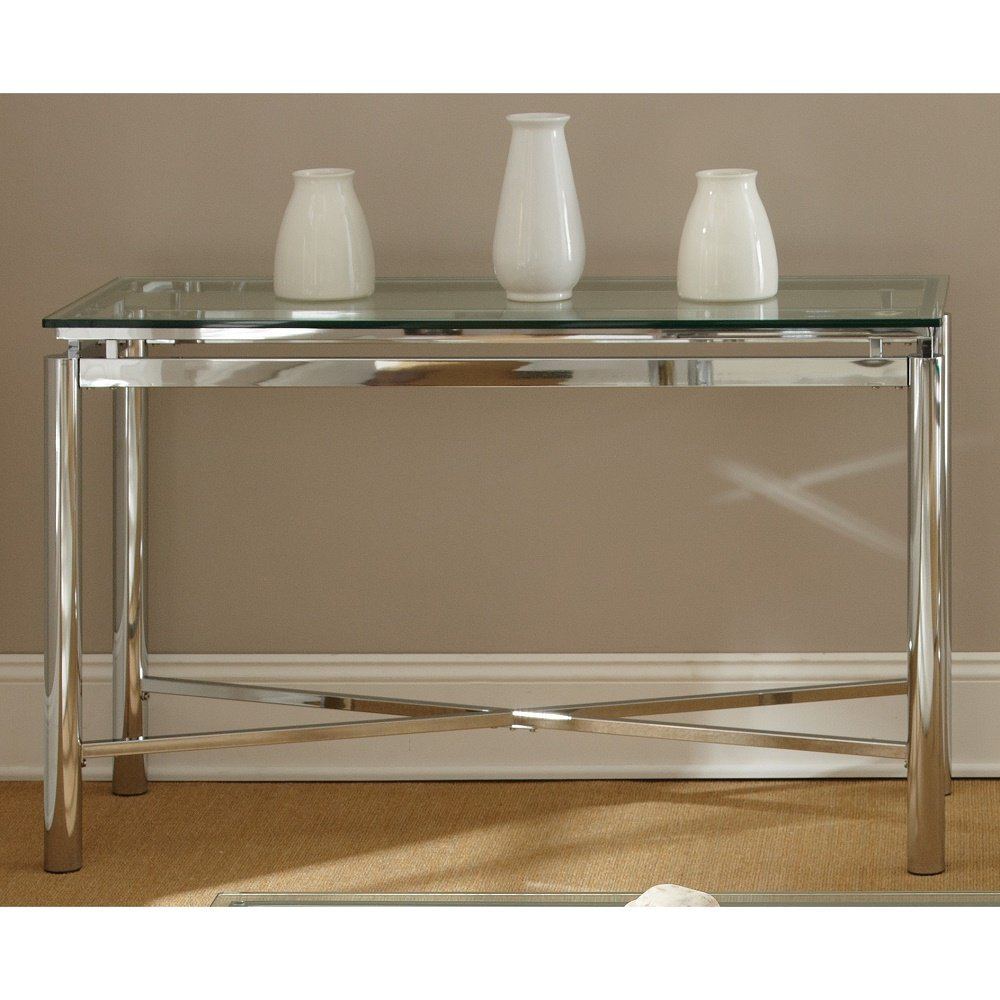 Admirable Buy Modern Style Natal Chrome Tempered Glass Top Sofa Table Ibusinesslaw Wood Chair Design Ideas Ibusinesslaworg