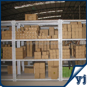 Promotion!! Longspan Light duty commercial slotted angle shelving in stock