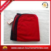 Low price fleece blankets bulk roll-up picnic blanket polyester blanket airline
