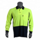 Hi Vis Worwear Polo T Shirts Two Tone Color Splicing Mesh Insets