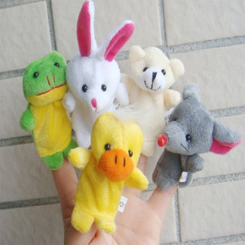 Factory Direct Best Price Cartoon Animal Finger Puppet Stuffed Toys 10 Pcs/Set Plush Mini Toy