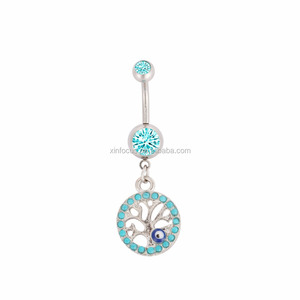 Evil Eye Belly Button Ring Wholesale Ring Suppliers Alibaba