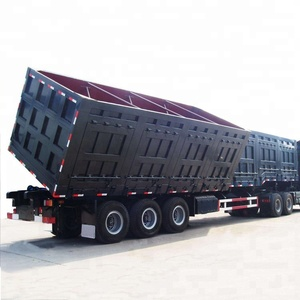 Gooseneck Container Semi Side Tipper Truck Trailer For Sale