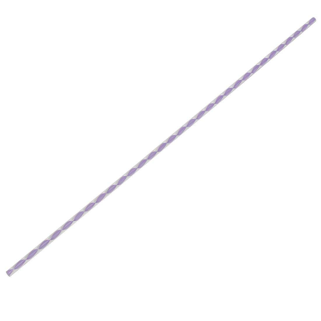 Twisted Light Purple Line Solid Acrylic Round Rod PMMA Bar 500mmx6mm