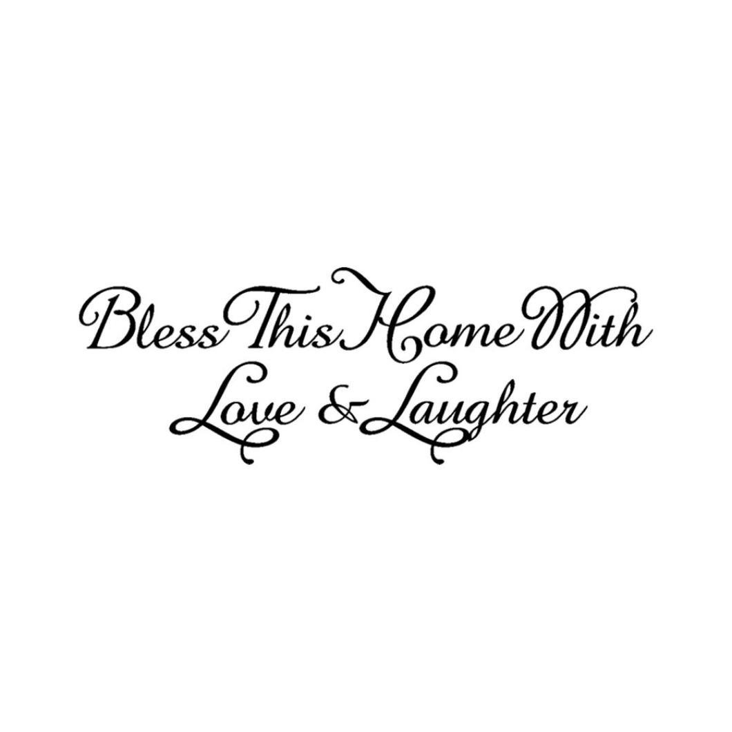 Rumas Bless This Home Removable Art Vinyl Mural Home Room Decor Wall Stickers