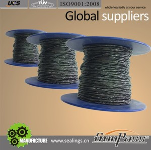 Gland Packing Manufacturers In India Grease Packing Graphite Yarn Reinforced With SS Wire