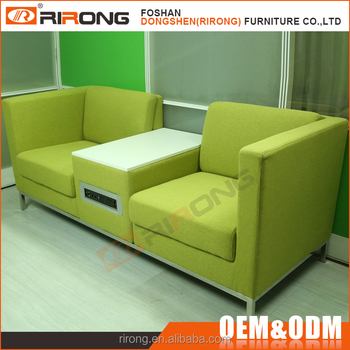 New Design Italian Style Colorful Green Fabric Modern Office Sofa Set With Outlet