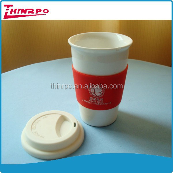 Customized FDA silicone rubber coffee mug lid folding silicone cup lid