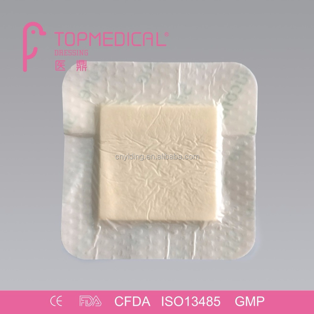 CE Approval Hydrophilic Silicone Foam Dressing, comparable to mepilex