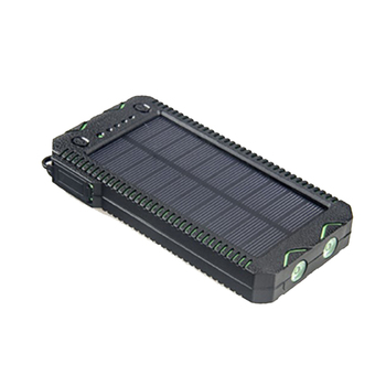 Cigarette lighter and Waterproof outdoor Solar Power Bank 12000mAh