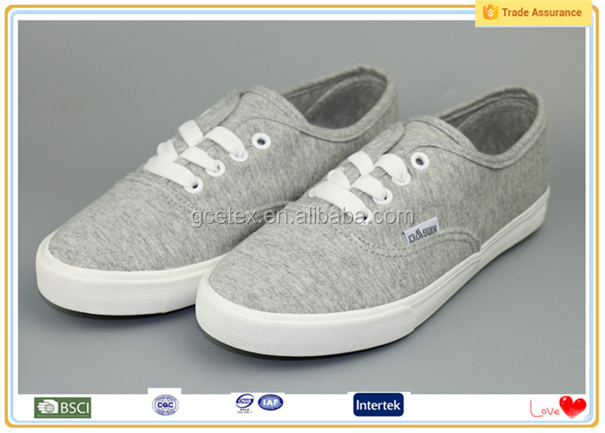 Grey canvas upper new arrival flat driving new women shoes