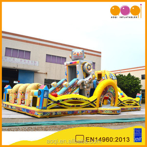 New Design Inflatable Robot Park commercial used child game inflatable fun city for promotion