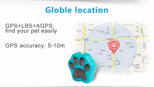 Pet waterproof GPS tracker V30 2G GPRS GSM intelligent GPS tracking