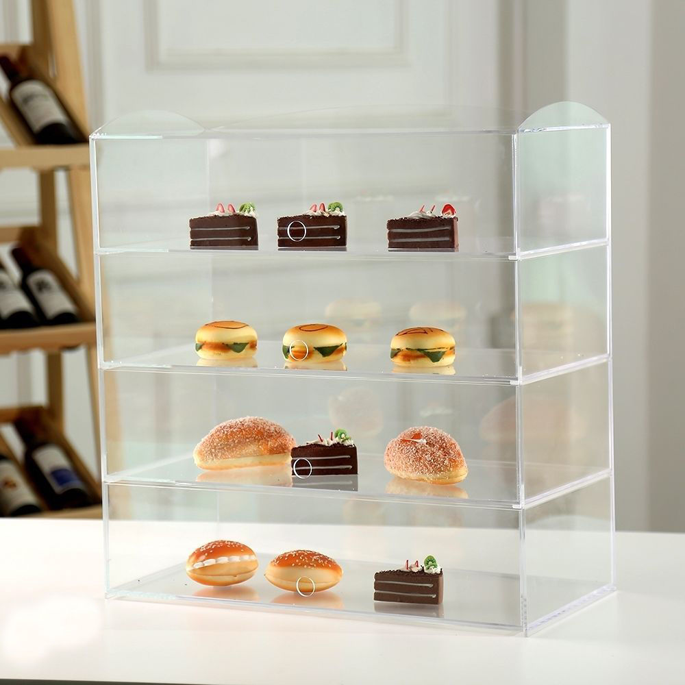 Clear Used Countertop Acrylic Bakery Display Cabinet Cases For ...