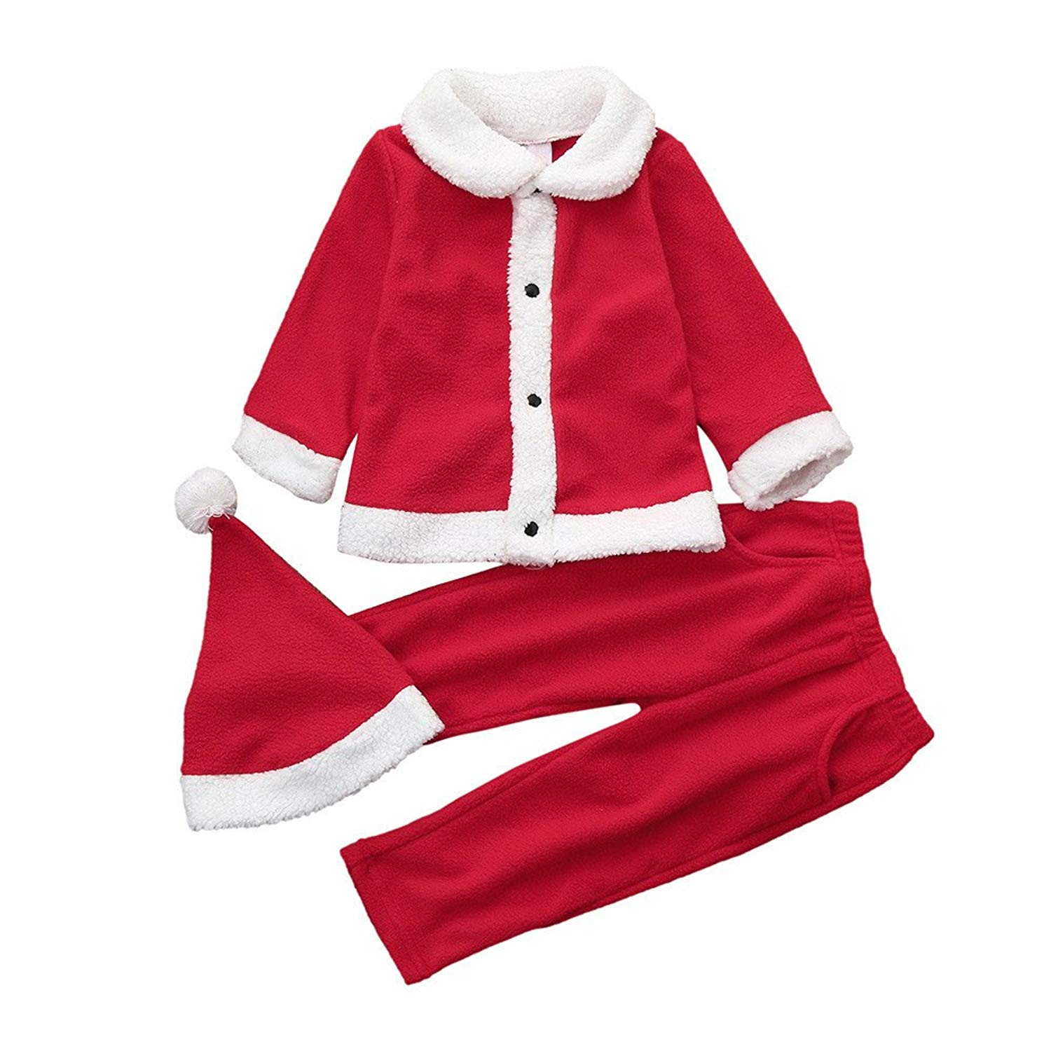 c6994d73661e1 Get Quotations · Hstore Baby Boys Girls Romper Christmas SOFE Party Tops+Pants+Hat  Jumpsuit Clothes