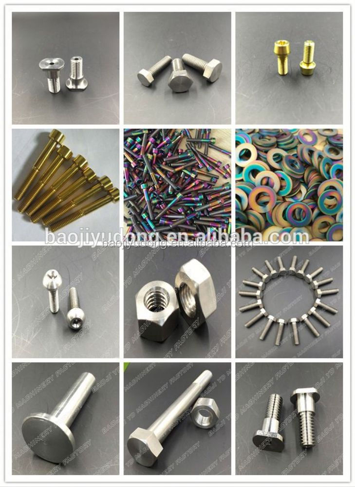 brass set screws titanium m1 screw