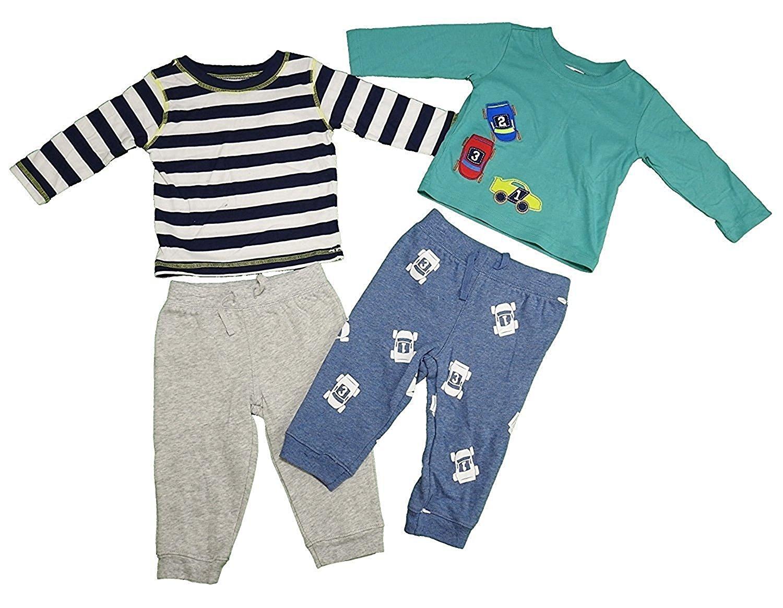 "Vitamins Kids Baby Boys 4-Piece ""Cars"" Set w/ 2 Tops & 2 Legging Pants, Multi"