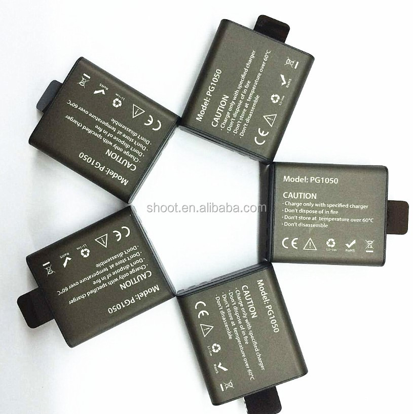 Original 1050mAh Rechargeable Li-ion batteries for Eken Camera
