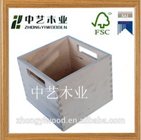 Cheap paulownia wood crafts tenon structure wood wine crates blank carrying handle decoractive 6 bottles wooden wine crates