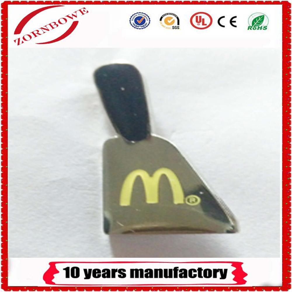 Mcdonald's soft enamel pin with custom <strong>logo</strong>, hight quality from manufactures china