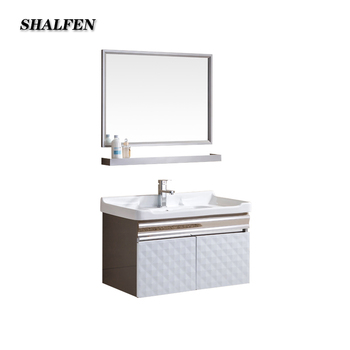 Simple Stainless Steel Bathroom Vanity Cabinet