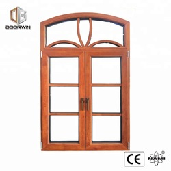 Decoration wood window aluminum outward