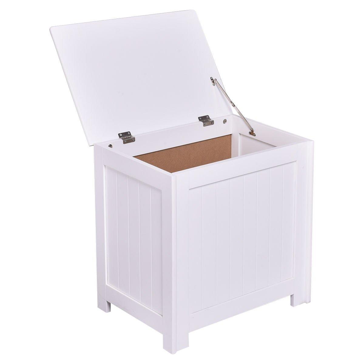 Get Quotations Fdinspiration 20 5 White Mdf Wood Laundry Hamper Storage Organizer W Flip Lid