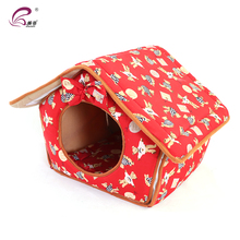 SKL Luxury High-end Double Pet House Red Dog Room