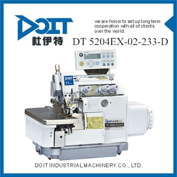 FULL AUTOMATIC COMPUTERIZED HIGH SPEED THREE THREAD OVERLOCK INDUSTRIAL SEWING MACHINE DT 5204EX-02/233/DD